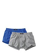 TOM TAILOR - Boxer-Briefs, 2er-Pack, königsblau/grau
