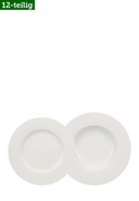 VILLEROY & BOCH - Teller-Set Wonderful World White, 12-teilig