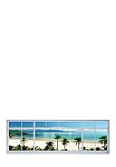 WALLSELECT - Wanddekoration Tropical View, 156x53x3.5 cm