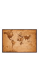 WALLSELECT - Wanddekoration Vintage World Map, 121x81x3.5 cm