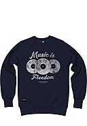 SEVENTYSEVEN - Sweatshirt Music Is Freedom, Langarm, Rundhals