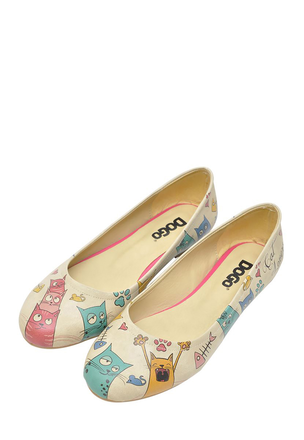 Dogo Ballerinas Cat Lovers, bunt