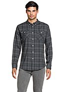 PEPE JEANS - Flanell-Hemd Westbourne, Langarm, Button-Down