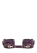 SHADES OF GREY - Leather Ankle Cuffs, Leder, lila