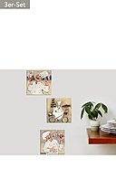 ALL ABOUT HOME - Wanddekorations-Set, 3-teilig, L15 B15 T2