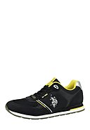U.S. POLO ASSN. - Sneaker Flash, Leder, schwarz
