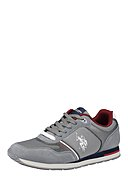 U.S. POLO ASSN. - Sneaker Flash, Leder, grau