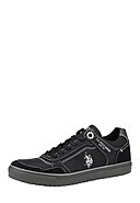 U.S. POLO ASSN. - Sneaker Walks, Leder, schwarz