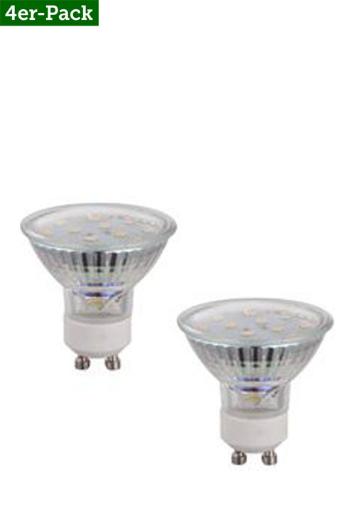 Globo LED-Leuchtmittel, 4er-Pack, transparent, A+