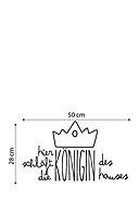 LITTLE NICE THINGS - Wandtattoo Here sleeps the Queen, B50 x H28 cm