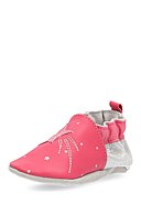 ROBEEZ - Krabbelschuhe Magic Star, Leder, pink/silbern