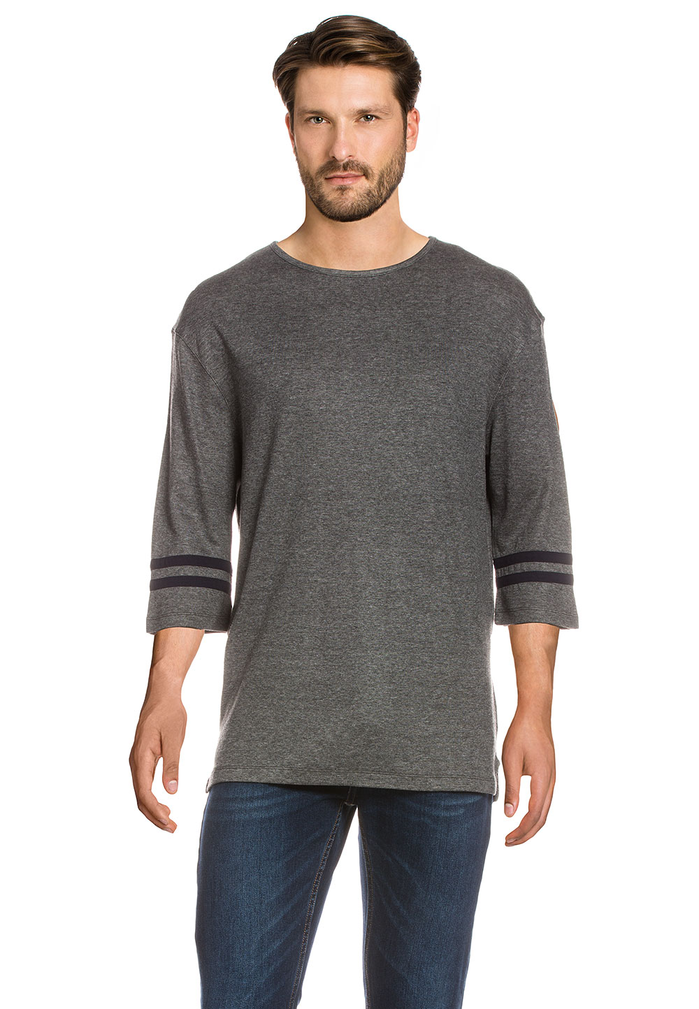 Hamilton AND Hare Pullover, 3/4-Arm, Rundhals grau | Bekleidung > Pullover > Sonstige Pullover | Grau | Hamilton AND Hare