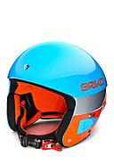 BRIKO - Skihelm VULCANO FIS 6.8, blau/orange