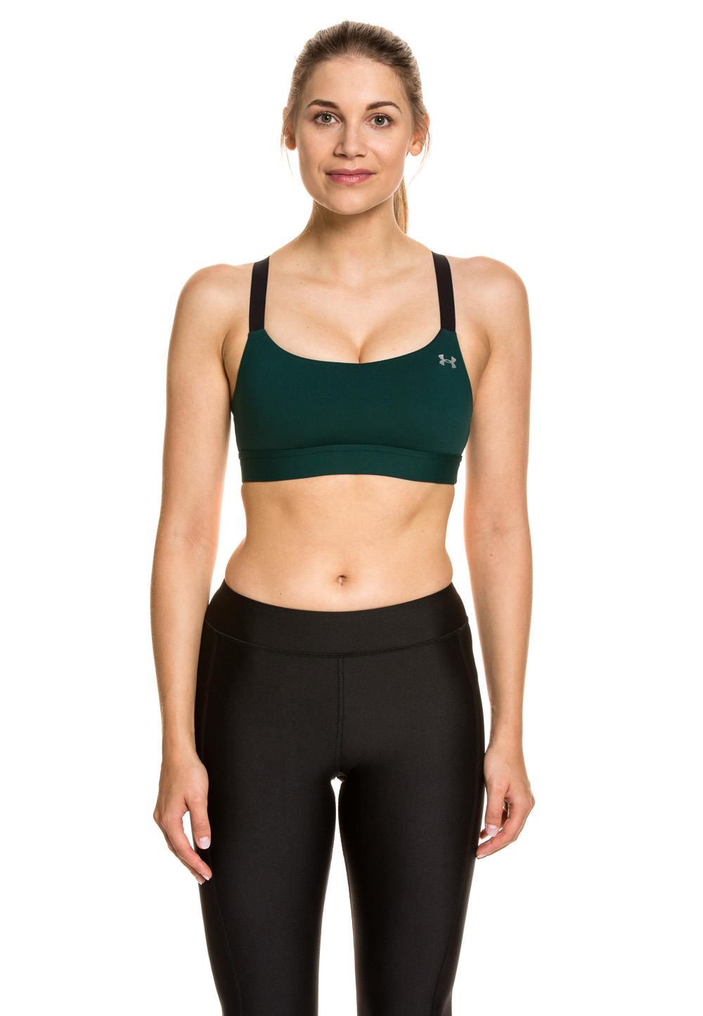 Under Armour Sport-Bustier, wattiert grün | Sportbekleidung > Sport-BHs | Grün | Under Armour