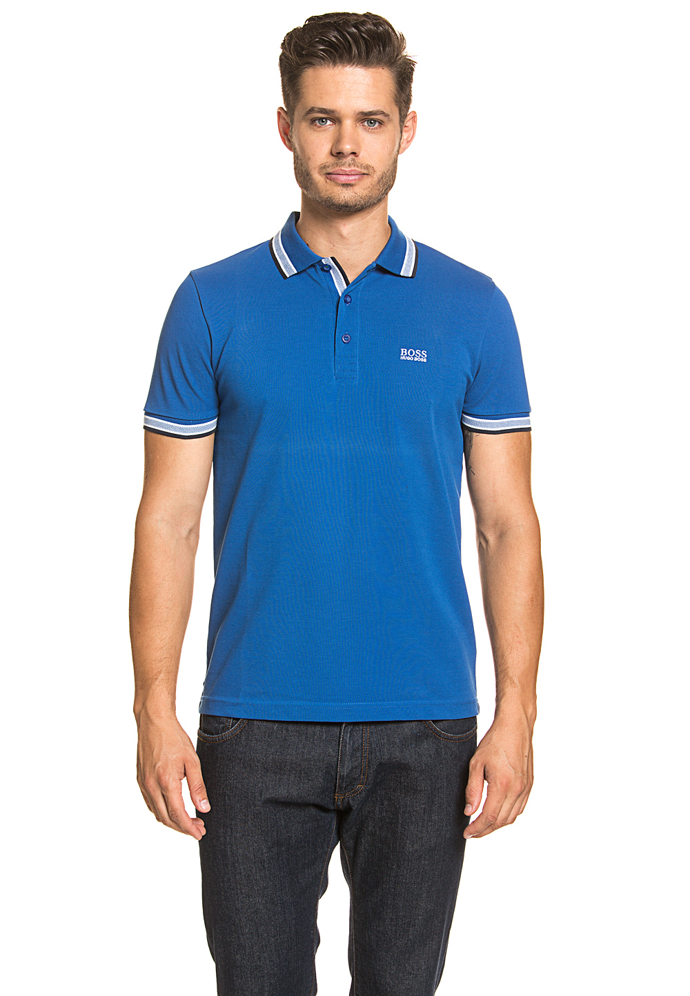 Boss Green Polo-Shirt Paddy, Regular Fit blau | Bekleidung > Polo Shirts > Kurzarm | Blau | Boss Green