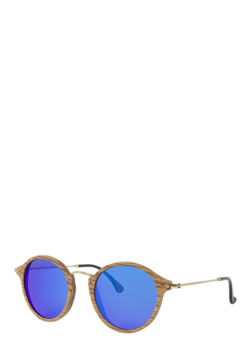 Time FOR Wood Sonnenbrille Aqua, UV 400, braun/gold