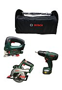 BOSCH - Werkzeugpaket Power for All, 3-teilig, 18V
