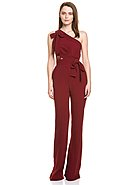 ELIE SAAB - Overall, ärmellos, One-Shoulder, Flared Fit