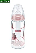 NUK - Babytrinkflasche First Plus PA M, 6er-Pack, rot