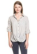 BROADWAY NYC FASHION - Bluse Anju, 34-Arm, Umlegekragen, bequemer Schnitt