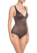 WOLFORD - Mieder-Body Sheer Touch, graphit
