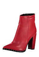 FOX - Ankle-Boots, Absatz 10 cm, rot