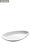 MAXWELL & WILLIAMS - Platte, oval Oslo, 2er-Pack, B34,5 x L25 cm
