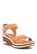 KICKERS - Sandaletten Wind, Leder, orange