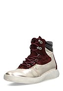 MARC SHOES - High-Top Sneaker Fabiola, Leder, golden/bordeaux