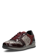 MARC SHOES - Sneaker Raven, bordeaux/ gemustert