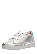 MARC SHOES - Sneaker Verena, Leder, silbern/metallic-blau