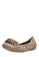 MARC SHOES - Ballerinas Janine, Leder, metallic-taupe