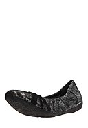 MARC SHOES - Ballerinas Janine, Leder, schwarz/metallic-silbern