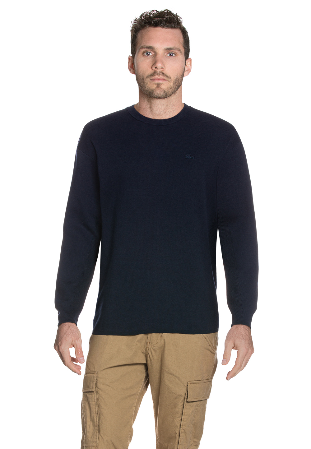 Lacoste Pullover, Rundhals, Regular Fit blau | Bekleidung > Pullover | Lacoste