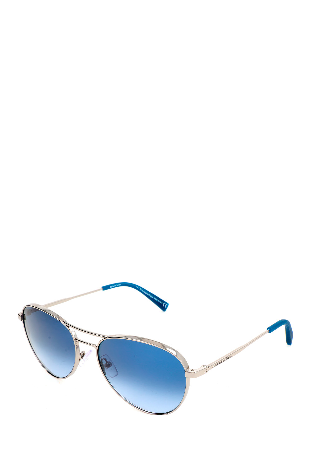 Ermenegildo Sonnenbrille Ez0098, Uv400, shiny light ruthenium bunt