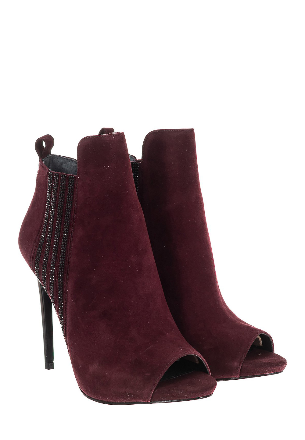 Guess Ankle-Boots, Absatz 11 cm, bordeaux rot | Schuhe > Stiefeletten > Ankleboots | Rot | Guess