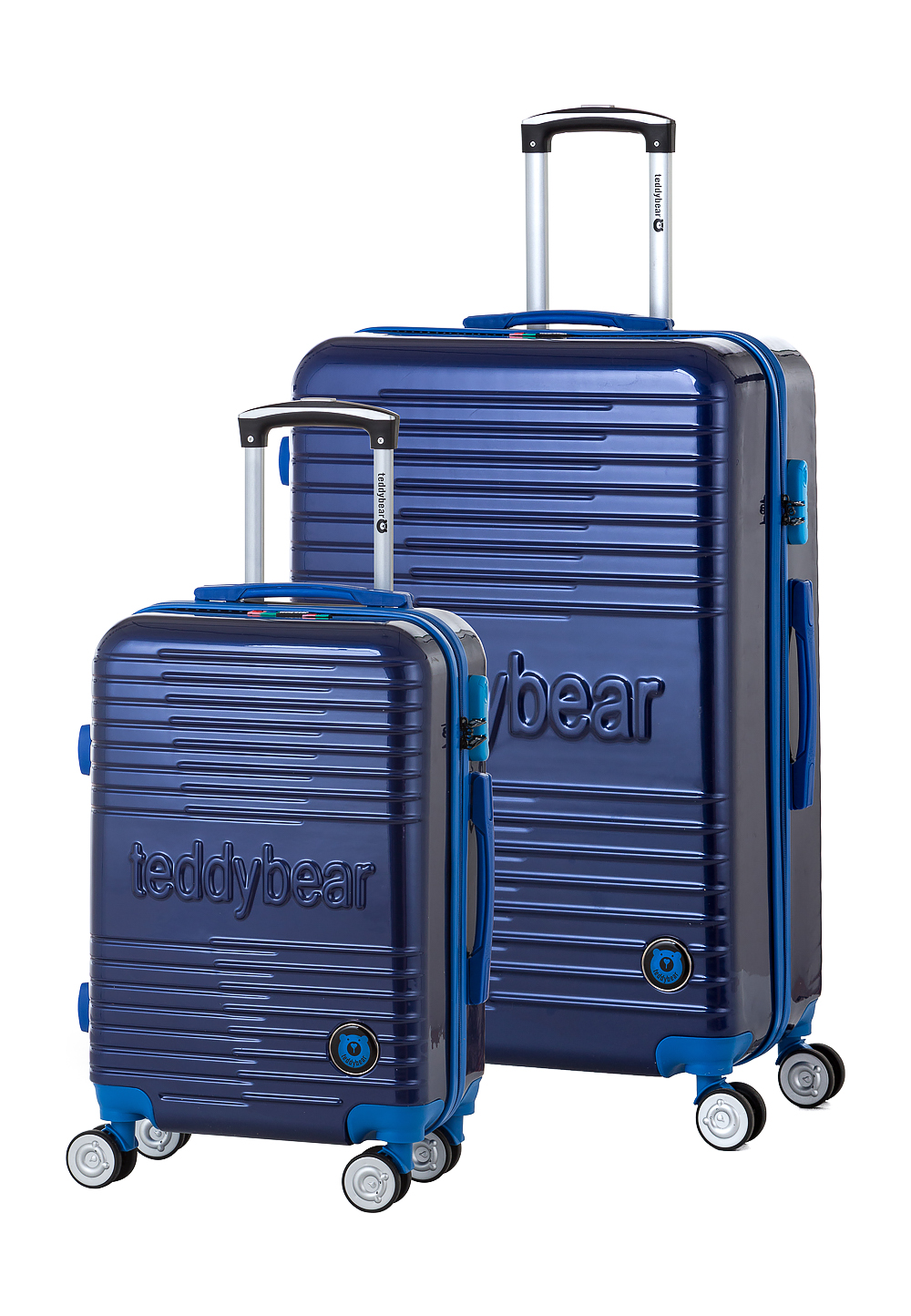 Teddy Bear Trolley-Set Sumire, 2-tlg. blau | Taschen > Koffer & Trolleys > Trolleys | Blau | Teddy Bear