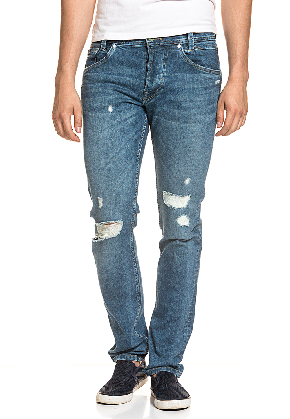 Pepe Jeans Stretch-Jeans Spike Eco, Regular Fit blau | Bekleidung > Jeans > Stretch Jeans | Pepe Jeans