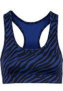 HEY HONEY - Sport-BH Zebras, schwarz/blau
