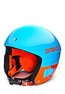 BRIKO - Skihelm VULCANO FIS 6.8 JR, blau/orange