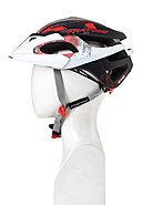 CRATONI - Fahrradhelm C-Hawk, white/black/red