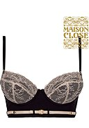 MAISON CLOSE - Push-Up-BH La Cavaliere, rosé/schwarz