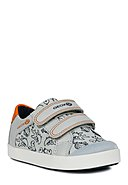 GEOX - Klett-Sneaker Gisli Boy, grau/orange