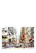 ROLF & CARON - Wanddekoration City Collage Art, 129x89x1.4 cm