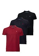 POLO CLUB - Polo-Shirt, 3er-Pack, Custom Fit