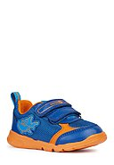 GEOX - Klett-Sneaker Runner Boy, blau/orange
