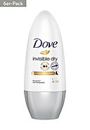 DOVE - Roll-On Invisible Dry, 6x 50ml [36,63€*/1l]