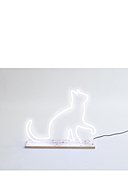 REALLY NICE THINGS - Stehleuchte Neon Cat, B40 x H33 cm