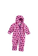 PLAYSHOES - Fleece-Overall Punkte, Kapuze