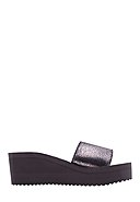 FLIP*FLOP - Plateau-Pantoletten Pool*Wedge Cracked, grau